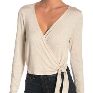 PST by Project Social T Long Sleeve Surplice Wrap